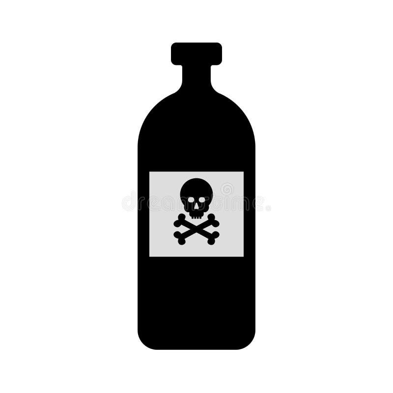 Bouteille de poison graphisme illustration stock