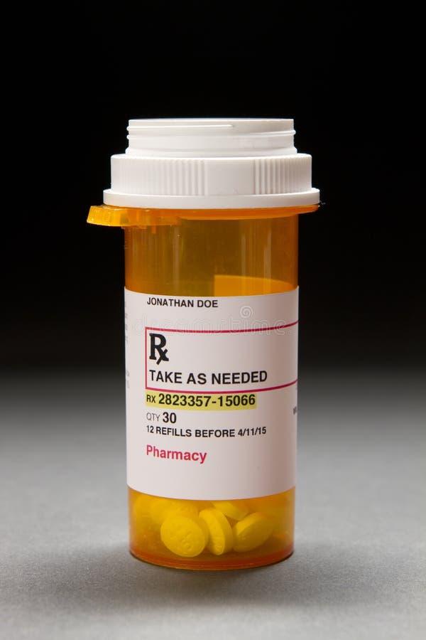 Bouteille de prescription image stock