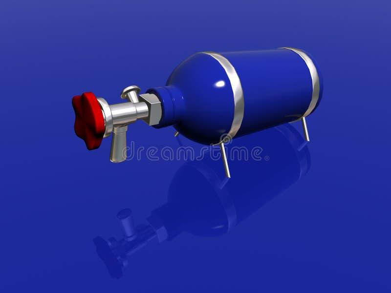 Bouteille de protoxyde d'azote illustration stock