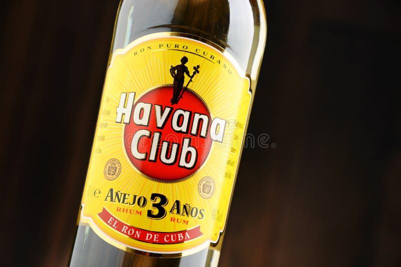 Bouteille de rhum de blanc de Havana Club photo stock