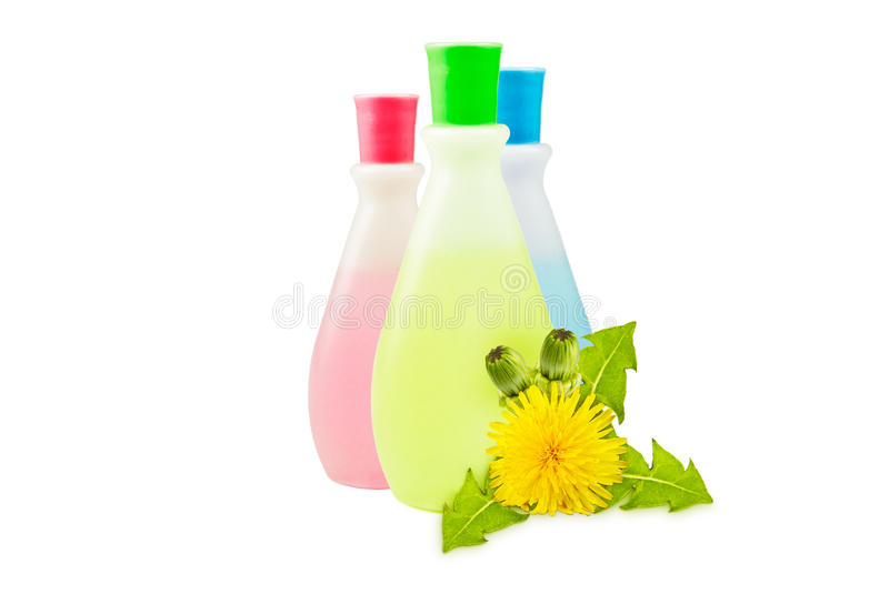 Bouteille de shampooing images libres de droits