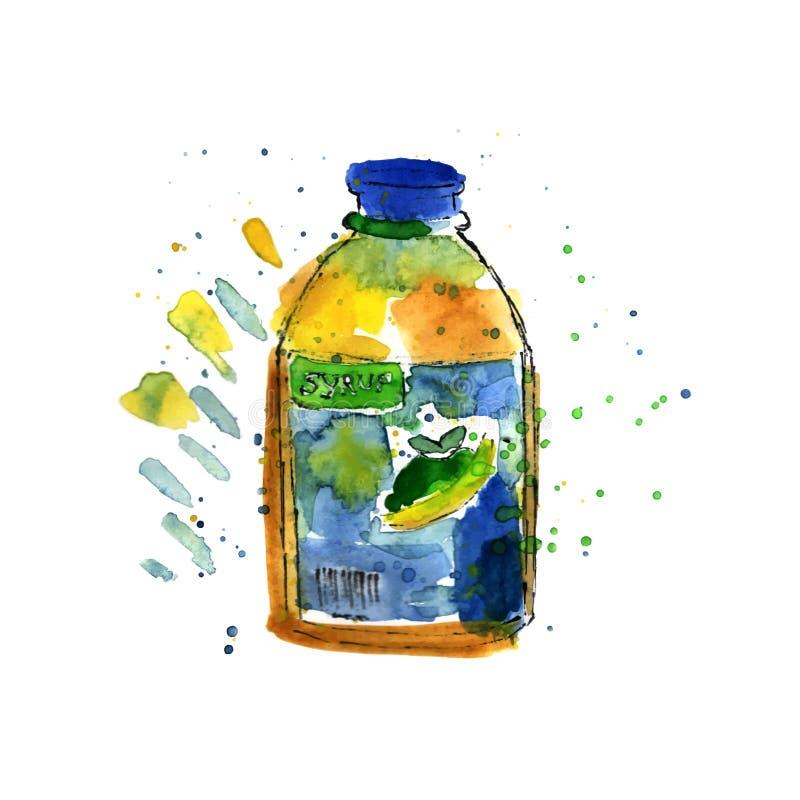 Download Bouteille de sirop illustration de vecteur. Illustration du liquide - 56475383