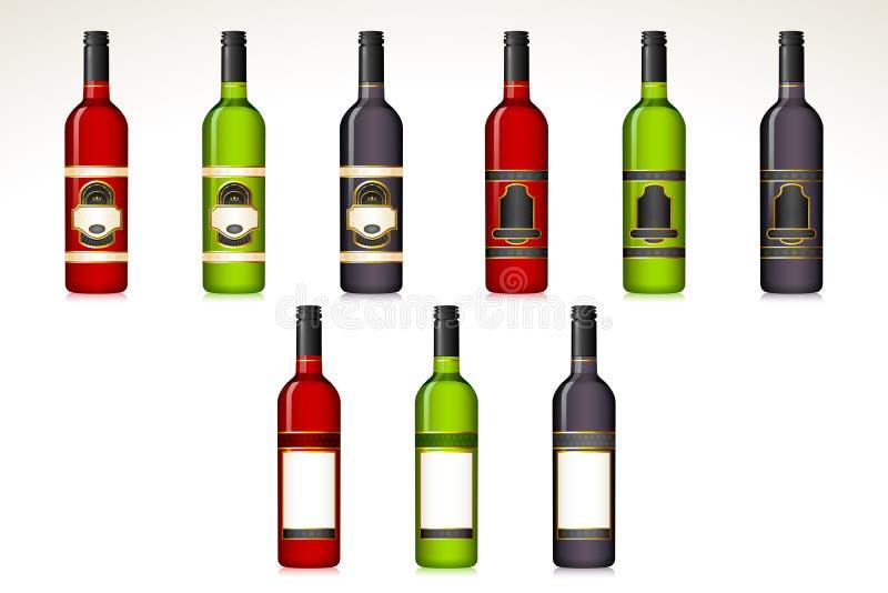 Bouteille de vin illustration libre de droits