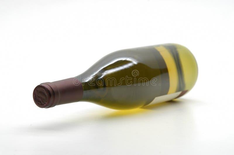 Bouteille de vin blanc photo stock