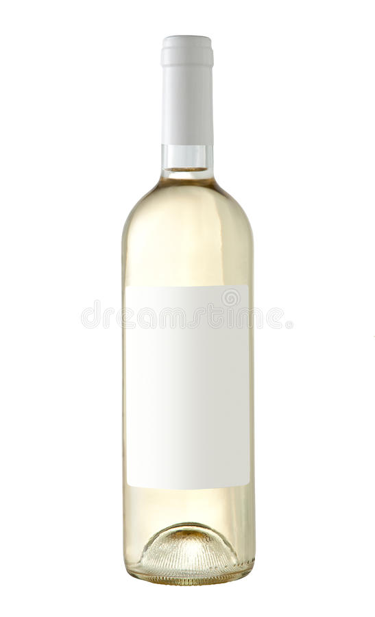 Bouteille de vin blanc d 39 isolement avec le label vide - Achat de bouteille de vin vide ...