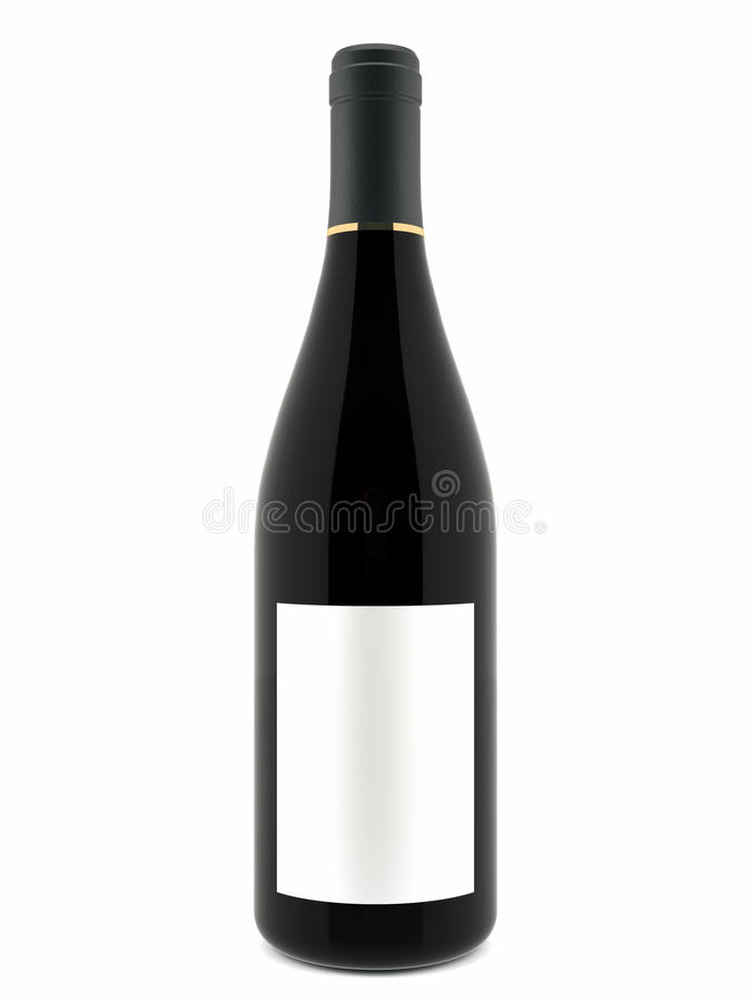 bouteille de vin 3d image stock