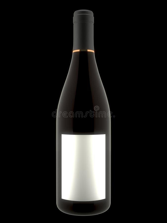 bouteille de vin 3d photos libres de droits