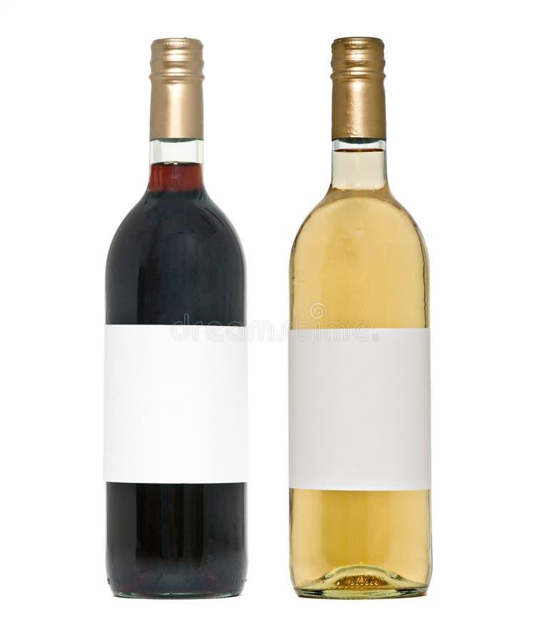 Bouteille de vin deux photos stock