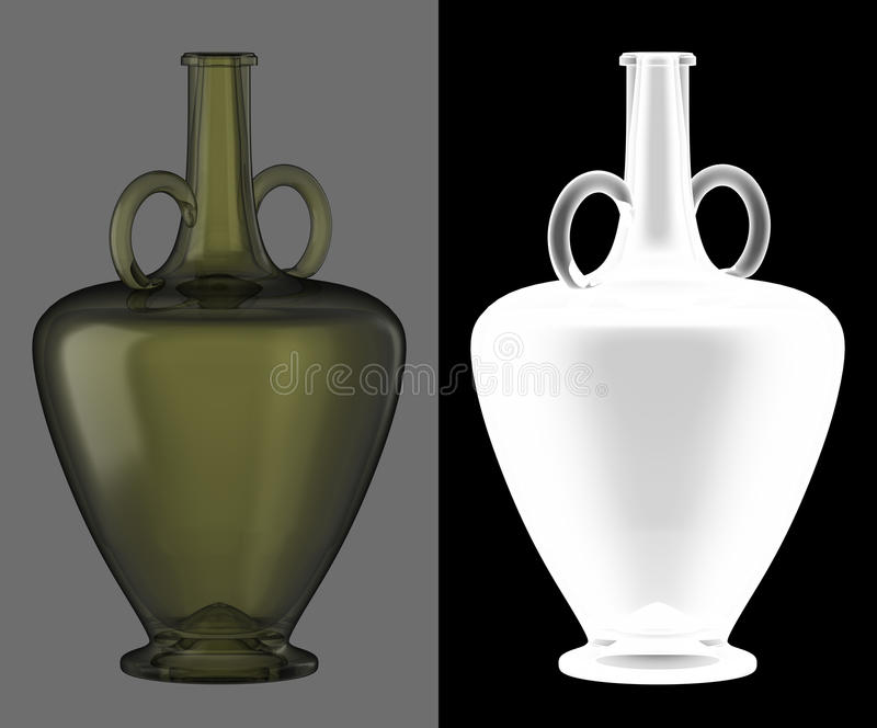 Bouteille de vin en verre vert illustration de vecteur