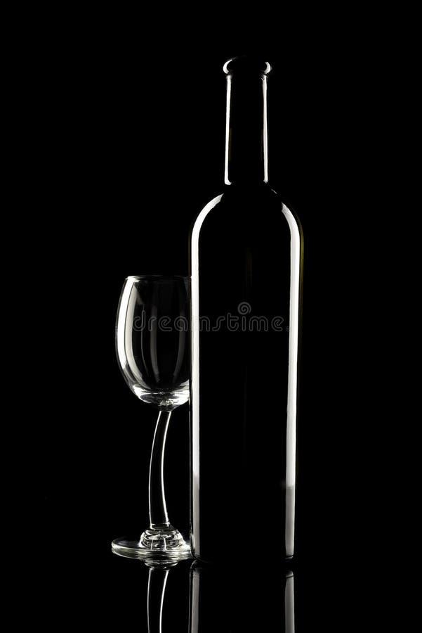 Bouteille de vin et de glace de vin photo libre de droits