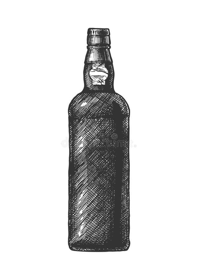 Bouteille de vin gauche illustration libre de droits
