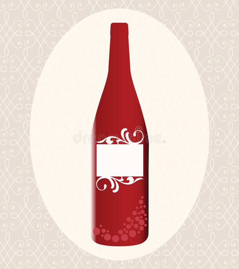 Bouteille de vin rouge illustration de vecteur