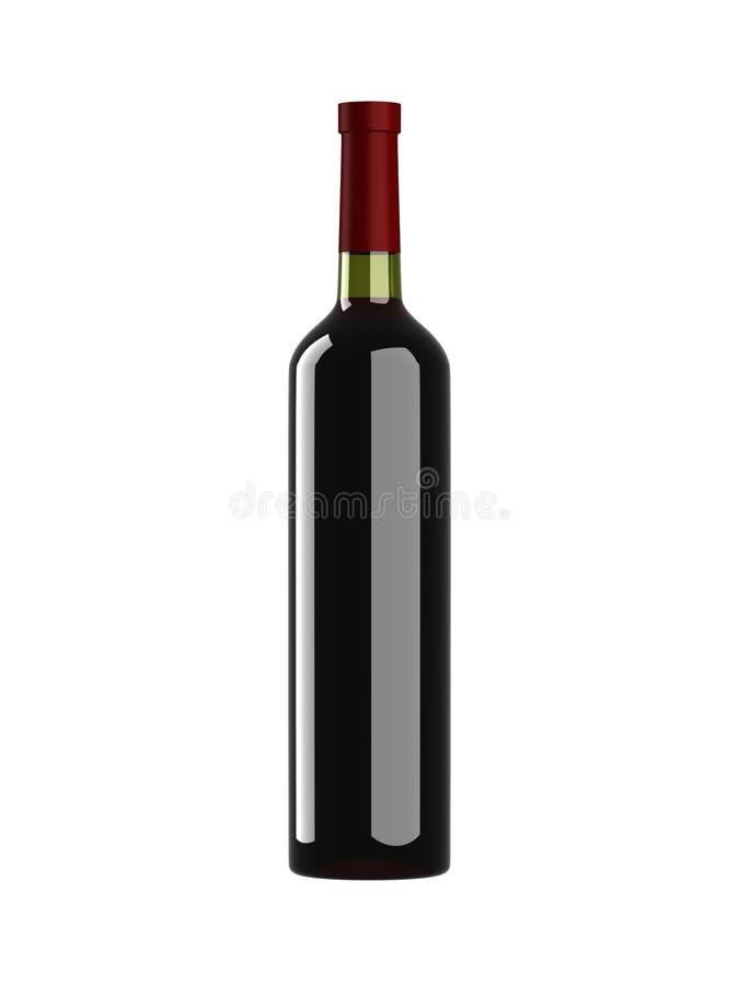 Bouteille de vin rouge illustration stock