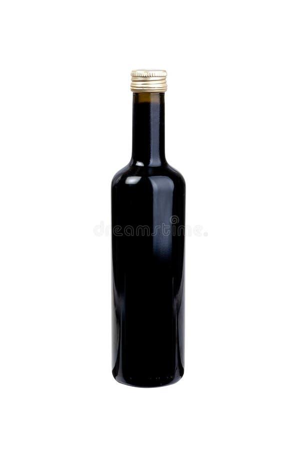 Bouteille de vinaigre balsamique photographie stock libre de droits