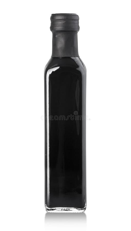 Bouteille de vinaigre balsamique image stock