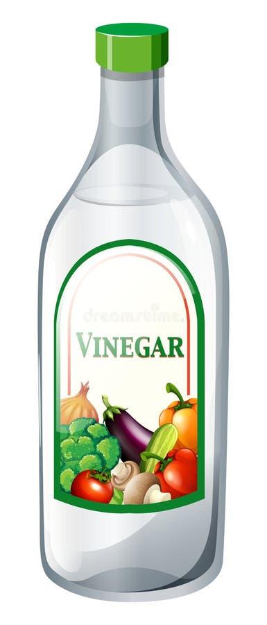 Bouteille de vinaigre végétal illustration stock