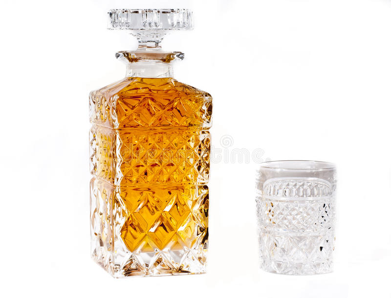 Bouteille de whiskey photographie stock