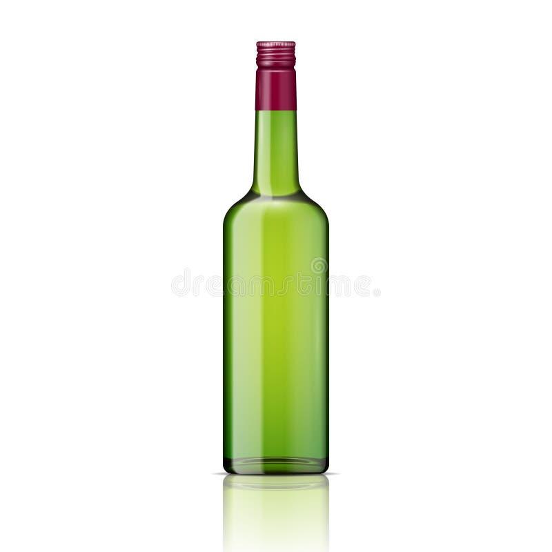 Bouteille de whiskey en verre avec le couvercle à visser. illustration stock
