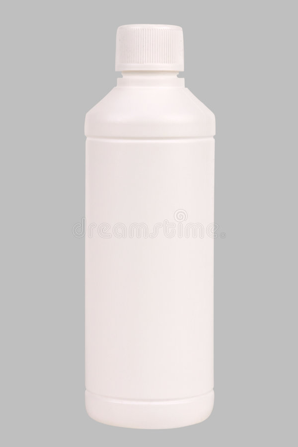 Bouteille en plastique blanche image stock