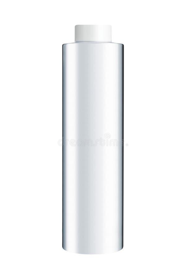 Bouteille en plastique blanche sur un blanc photographie stock libre de droits
