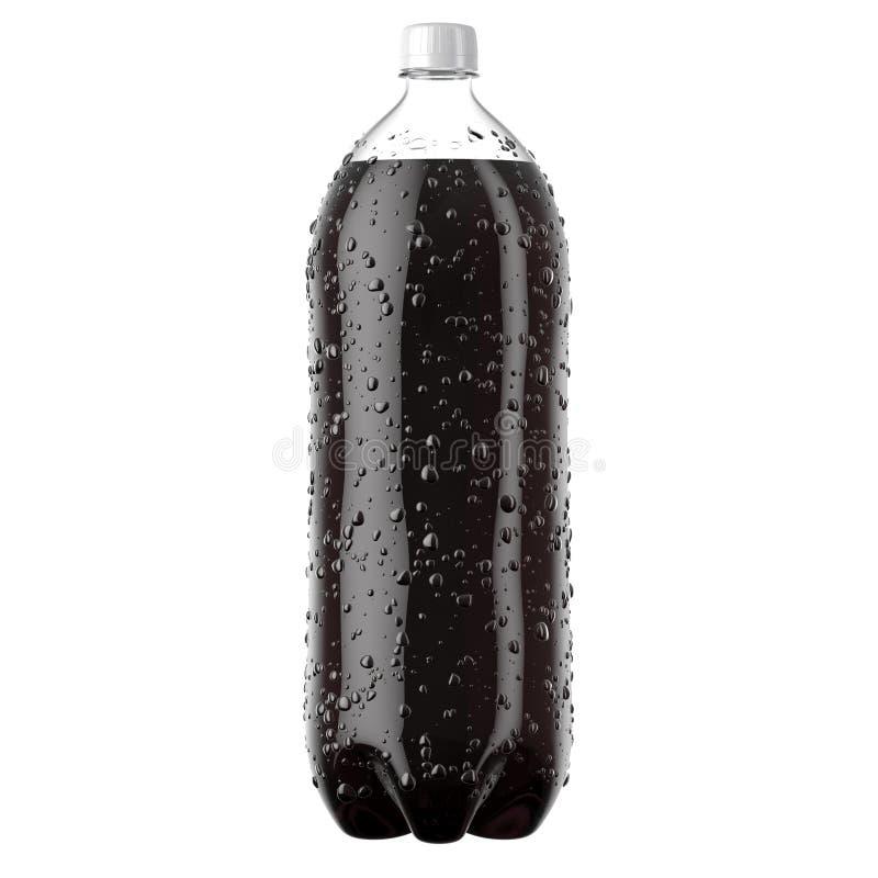 Bouteille en plastique carbonatée de boisson non alcoolisée illustration de vecteur