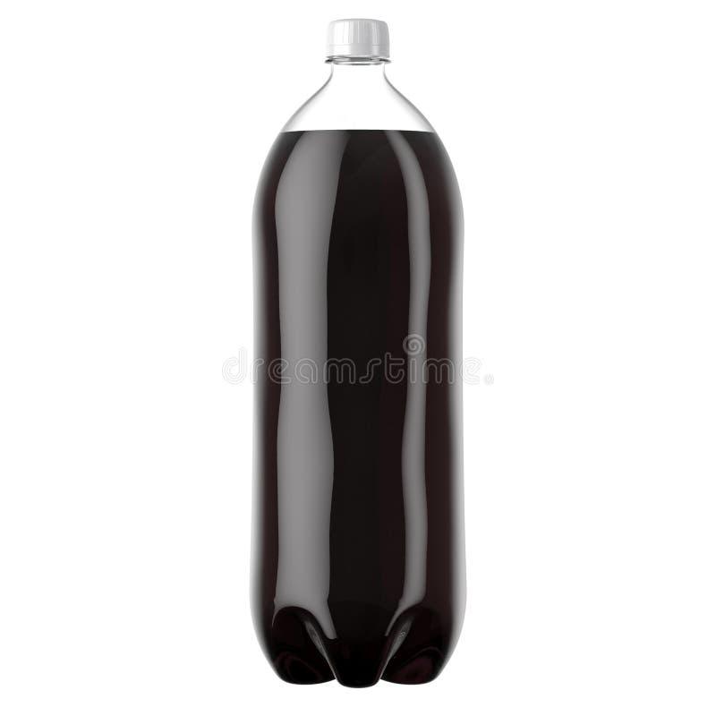 Bouteille en plastique carbonatée de boisson non alcoolisée illustration stock