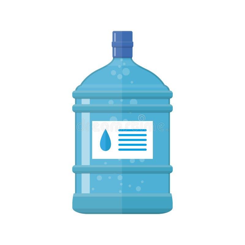 Bouteille en plastique de bureau pour le refroidisseur d'eau, illustration de vecteur