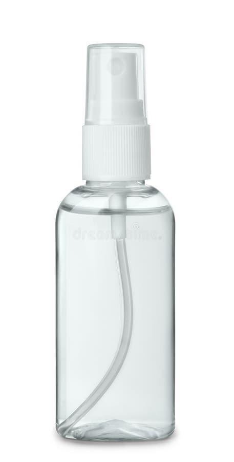 Bouteille en plastique de jet de parfum photographie stock libre de droits