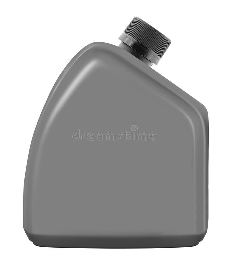 Bouteille en plastique de pétrole de moteur photographie stock