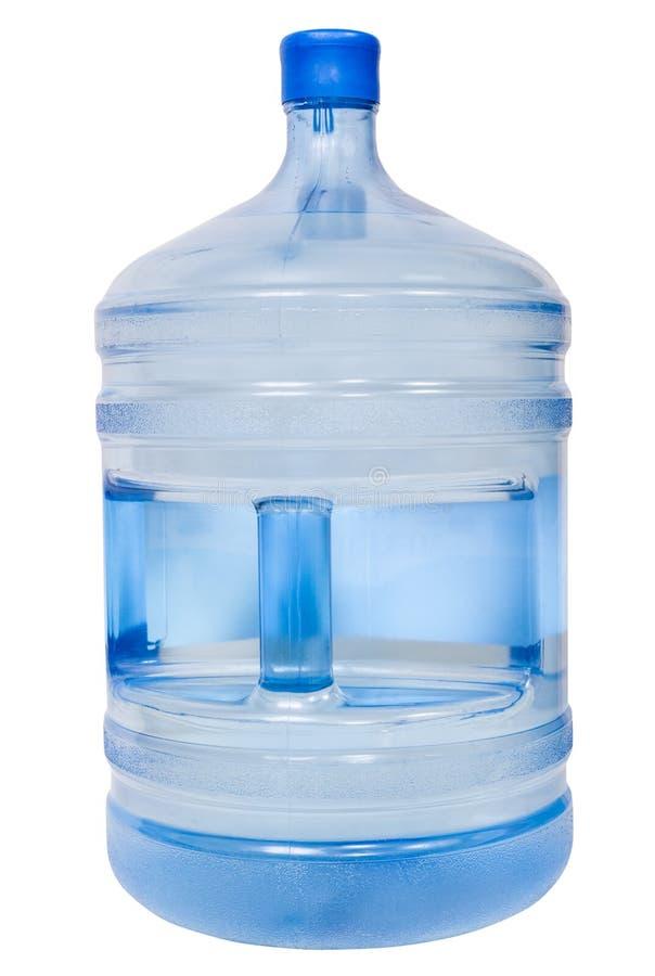 Bouteille en plastique fermée de 19 litres avec de l'eau potable  images libres de droits
