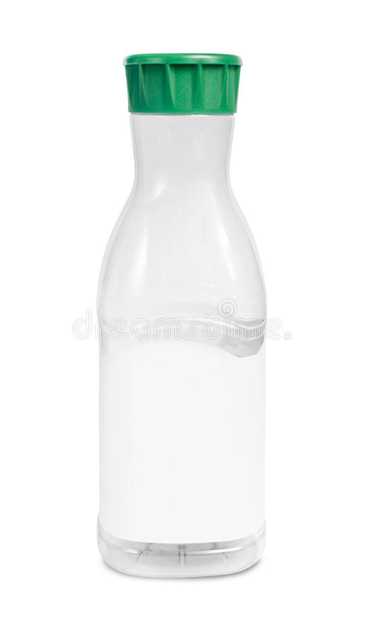 Bouteille en plastique vide de boissons images libres de droits