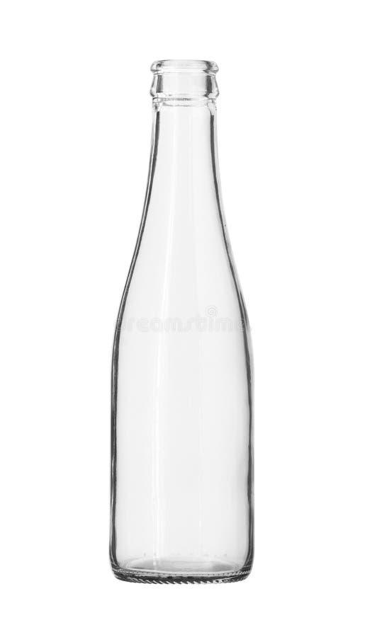 Bouteille en verre de boisson non alcoolisée d'isolement sur le fond blanc photos stock