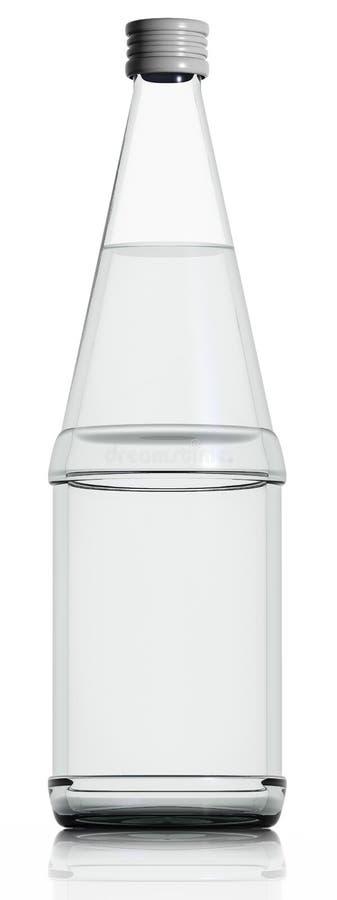 Bouteille en verre de l'eau. illustration libre de droits