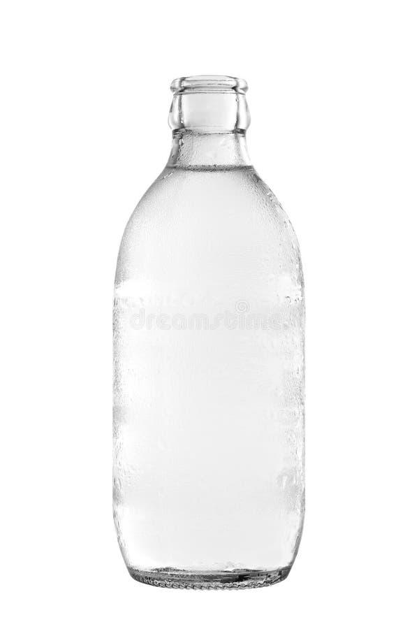 Bouteille en verre de l'eau de seltz images libres de droits