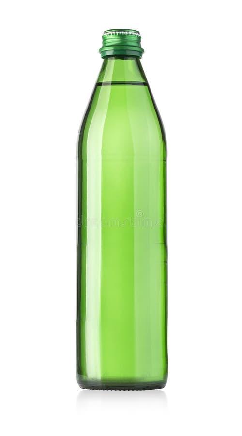 Bouteille en verre de l'eau de seltz photographie stock