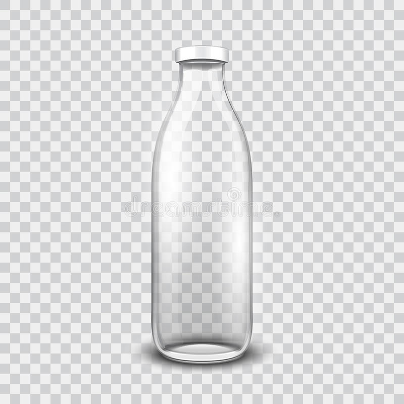 Bouteille en verre transparente illustration stock