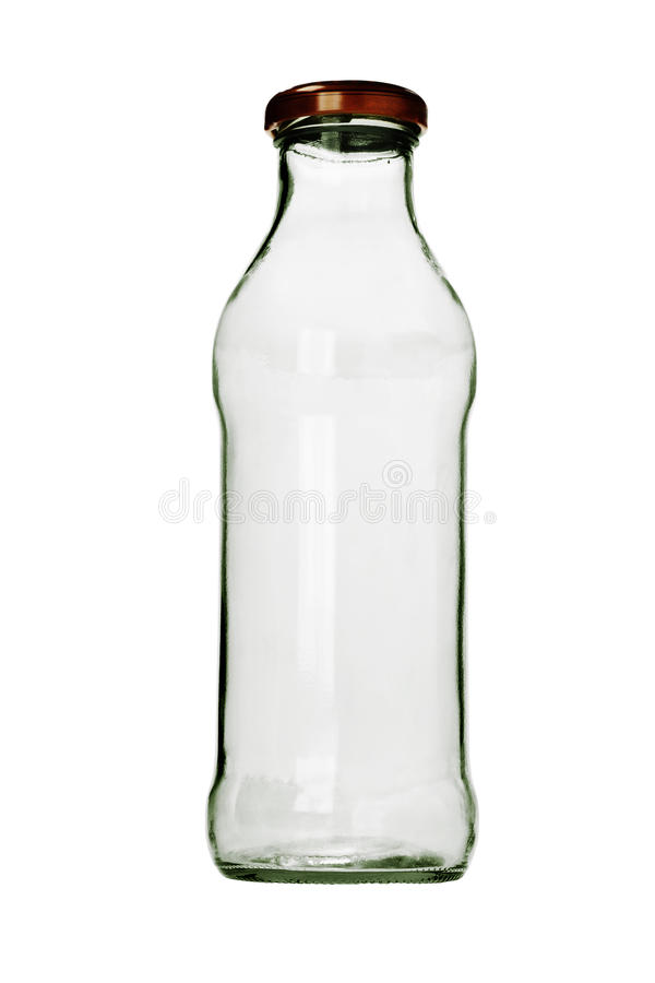 Bouteille en verre vide photo libre de droits