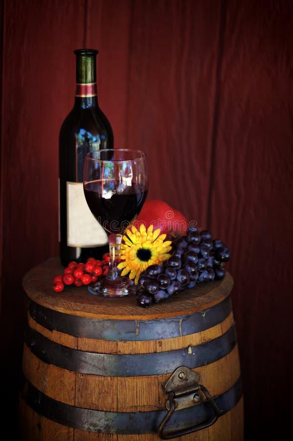 Bouteille et glace de vin photo stock