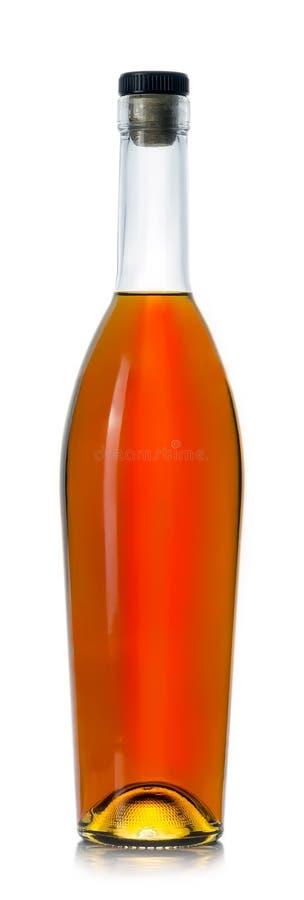 Bouteille fermée de cognac photographie stock libre de droits