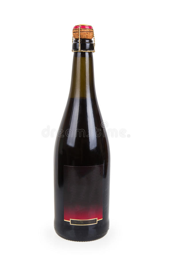 Bouteille fermée de vin rouge images libres de droits