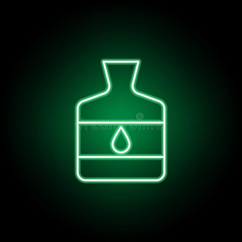 Bouteille, icône d'ensemble de colle dans le style au néon Peut ?tre employ? pour le Web, logo, l'appli mobile, UI, UX illustration libre de droits