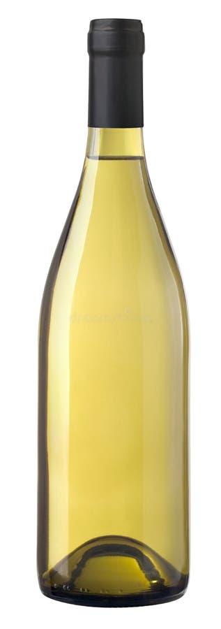 Bouteille nue de vin de Chardonnay photographie stock libre de droits