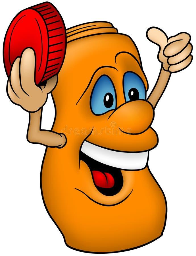 Bouteille orange illustration stock