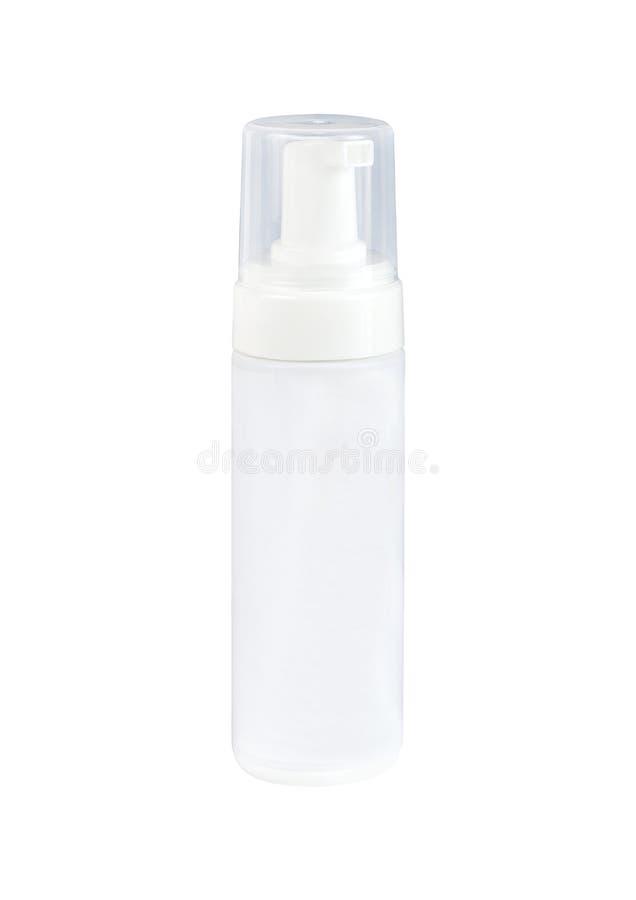 Bouteille principale de pompe de crème pour des soins de la peau photos stock