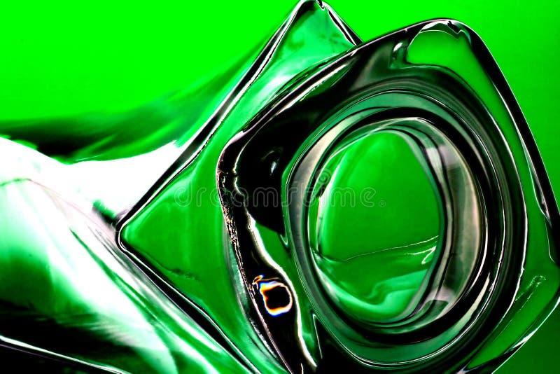 Bouteille sur le vert photographie stock libre de droits