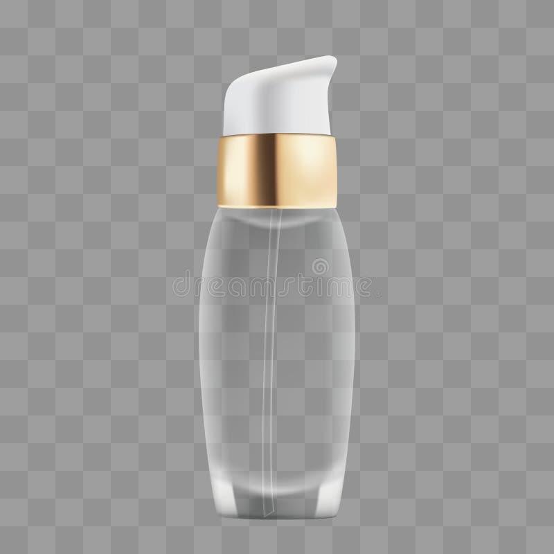Bouteille vide de Mocap pour des cosmétiques illustration stock