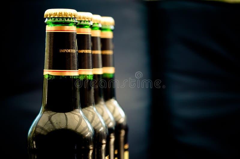 Bouteilles à bière photographie stock libre de droits