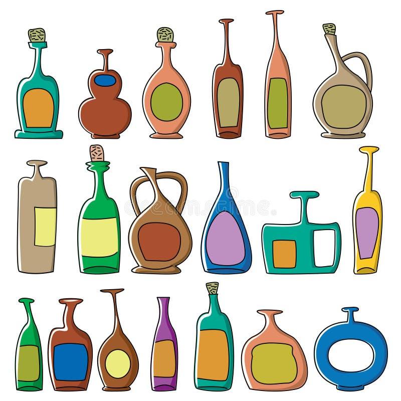Bouteilles illustration stock