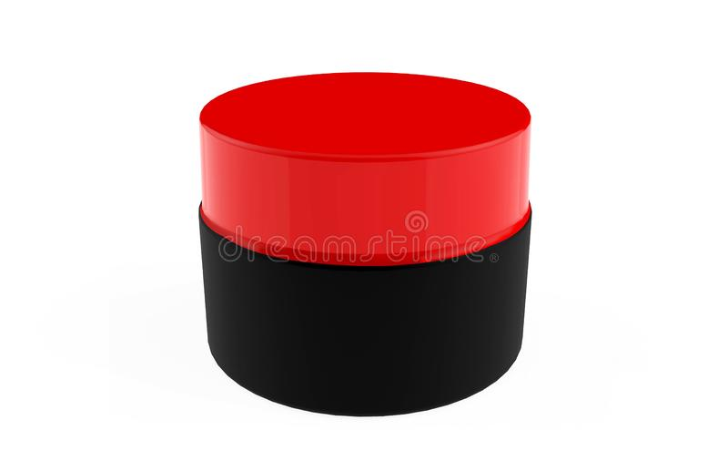 Bouteilles cosmétiques en plastique pour la lotion crème illustration de vecteur