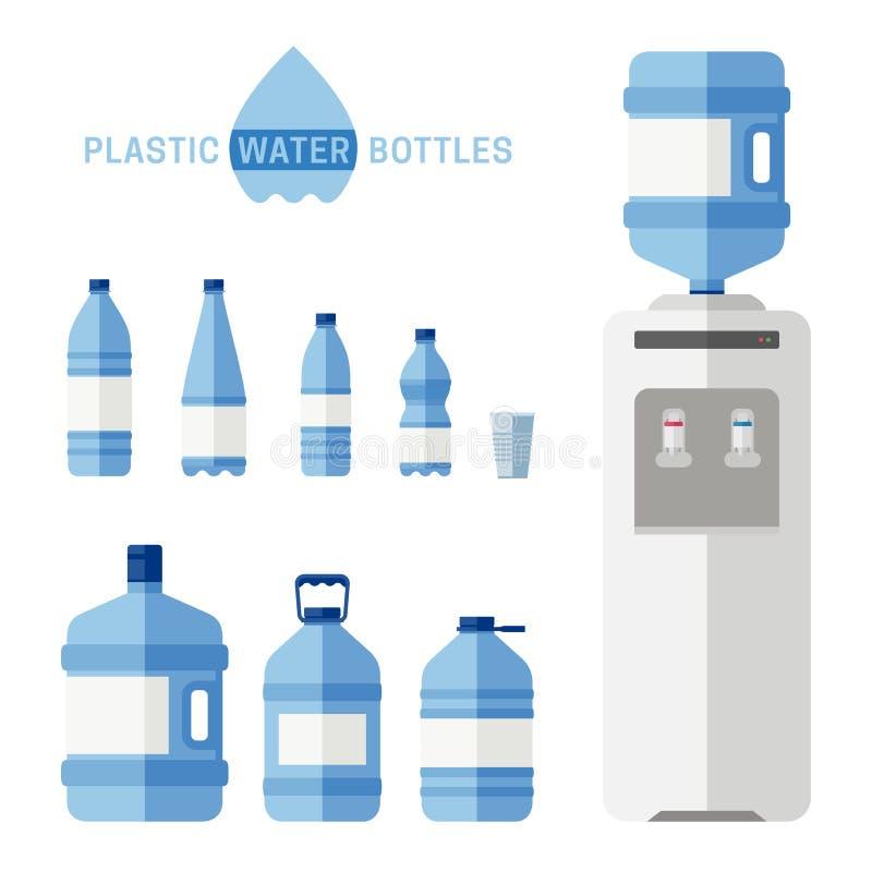 Bouteilles d'eau en plastique illustration libre de droits